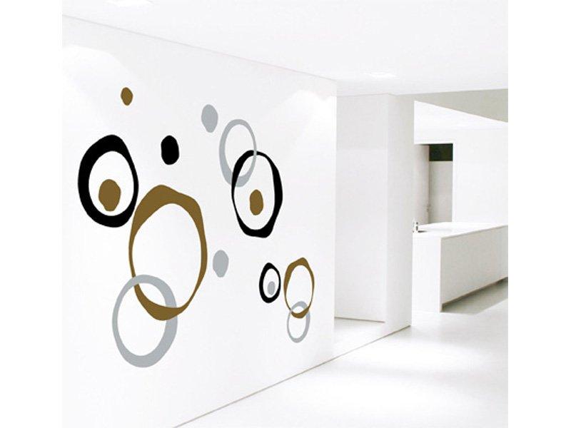 Vinilo moderno decoraci n pegatina pared en c rculos para - Vinilos de salon ...