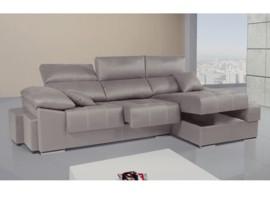 Chaise longue reclinable, extraíble y con arcón