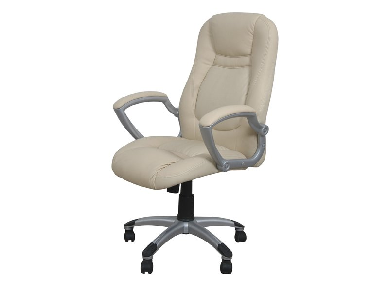 Silla para escritorio de oficina regulable de diferentes for Sillas polipiel beige