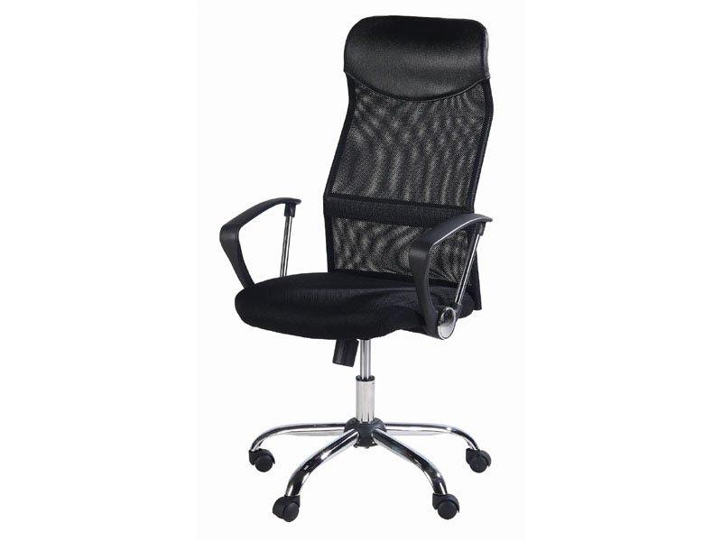 Sillón de oficina negro, oferta silla de oficina transpirable