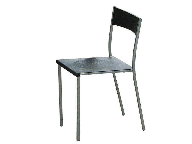 Silla de dise o para la cocina asiento y respaldo en pl stico for Sillas cocina negras