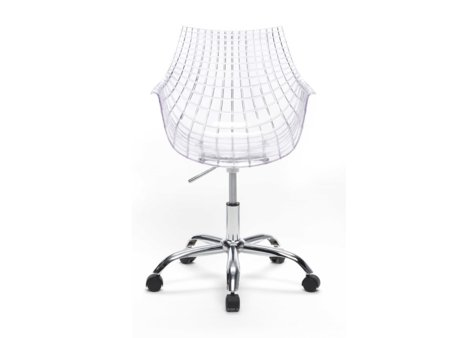 Silla de oficina moderna silla transparente de dise o con for Sillas de oficina modernas