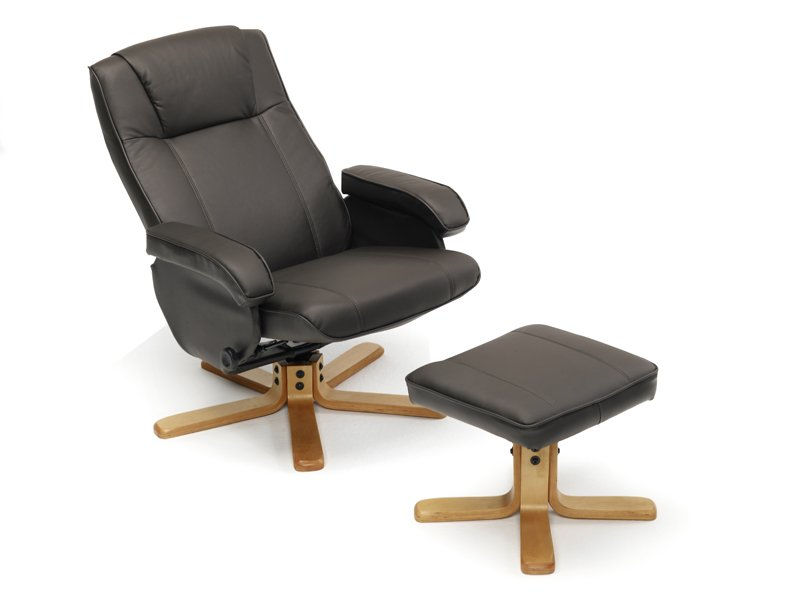 sill n tipo relax con base de madera tapizado polipiel ForSillon Relax Madera