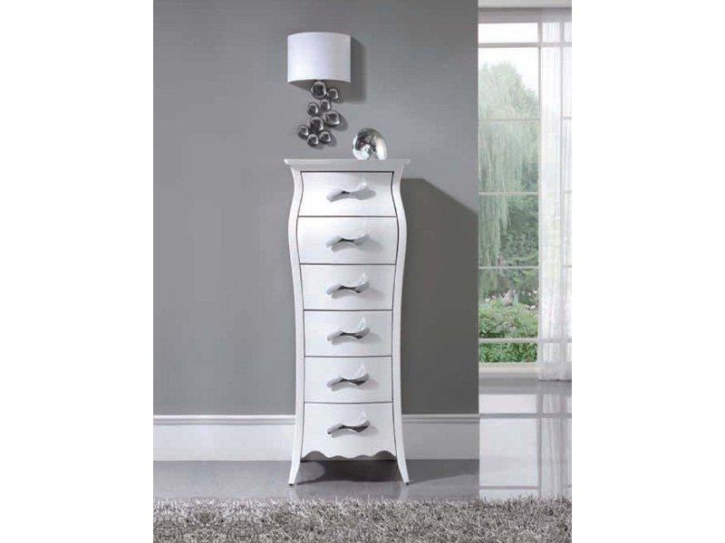 Sinfonier blanco con estilo vintage compra mueble for Dormitorio vintage blanco