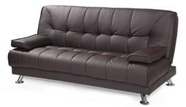 Sofá cama de piel ecológica