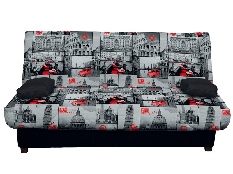 Sofá cama color plata, comprar sofá cama con apertura clic-clac