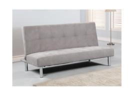 Sofá cama gris con colchón