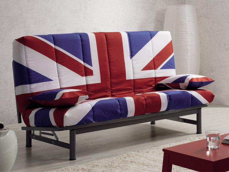 Sof cama british de dise o con apertura en clic clac y for Sofa cama juvenil