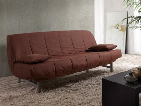Sof cama de clic clac en loneta con estilo juvenil en colores for Sofa cama juvenil