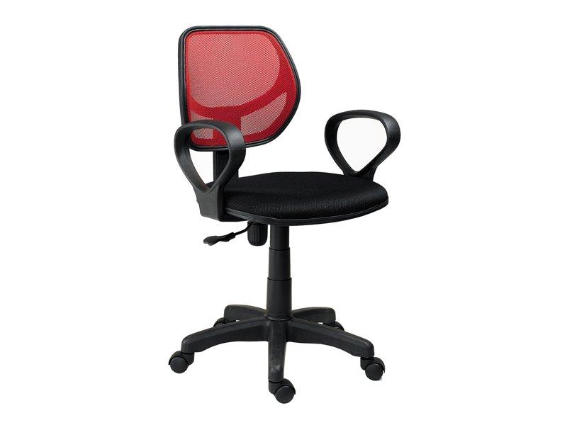 Silla para escritorio de oficina regulable en lila y negro for Sillas naranjas baratas