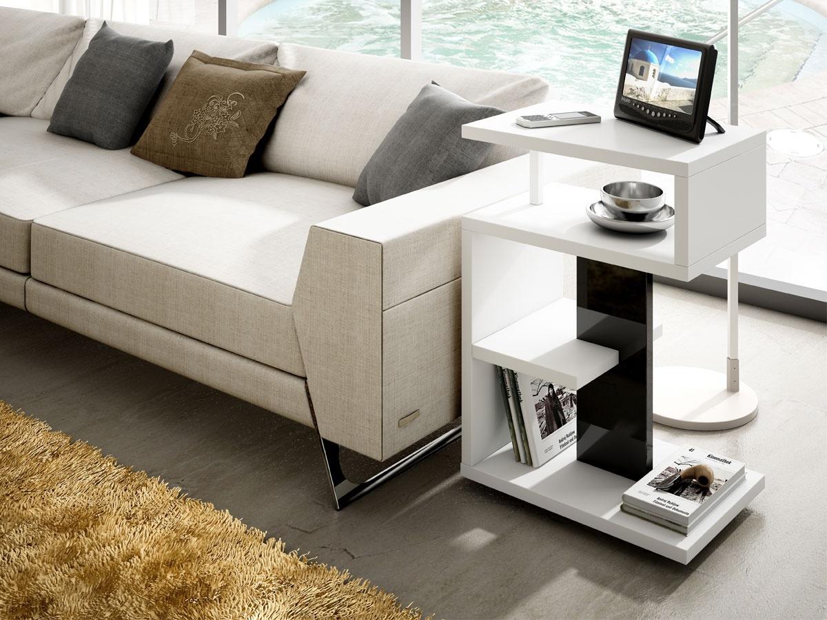 Mesita auxiliar en forma de s - Mesa auxiliar para sofa ...