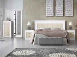 Dormitorio romántico blanco-visón