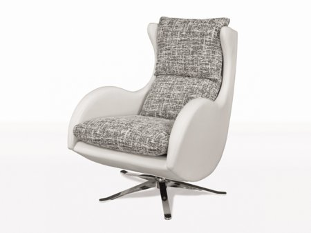 Butaca giratoria minimalista de dise o y cojines de gran confort - Sillones para salon ...