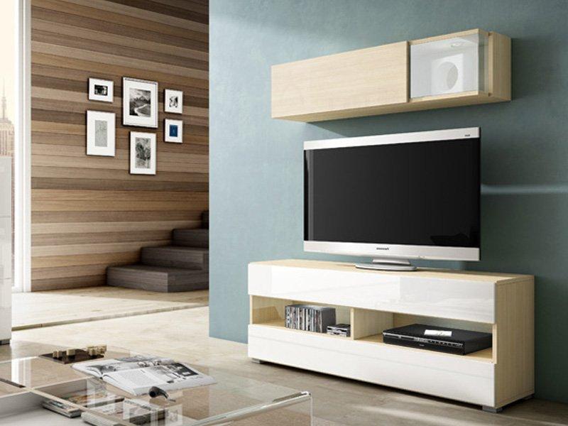 Mueble de Tv con vitrina, mesa para vídeo en el salón por módulos