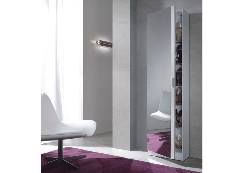 Mueble zapatero blanco comprar zapatero blanco con espejo for Zapatero alto con espejo