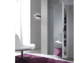 Mueble zapatero blanco comprar zapatero blanco con espejo for Mueble zapatero metalico