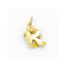 MICKEY MOUSE PENDANT GOLD LETTER