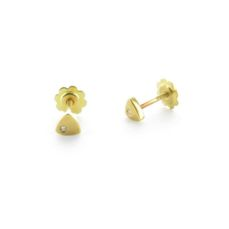 GOLD EARRINGS FOR BABIES A-1198R/BR