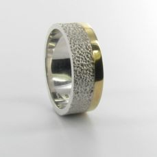 GOLD AND SILVER WEDDING RING