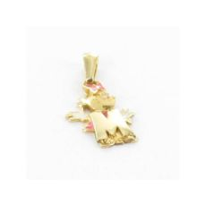 MINNIE MOUSE PENDANT GOLD LETTER