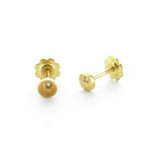 GOLD EARRINGS FOR BABIES D-1197-R/BR