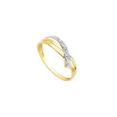 WHITE AND YELLOW GOLD RING FOR KIDS 19240 SIZE 11