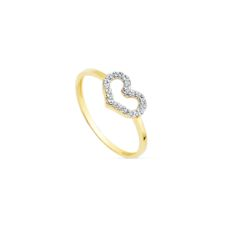 WHITE AND YELLOW GOLD RING FOR KIDS 19297 SIZE 13