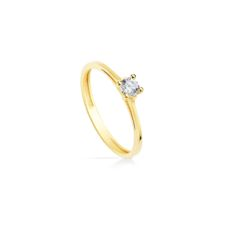YELLOW GOLD RING FOR WOMEN 19348-OA SIZE 13