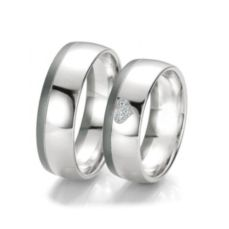 WEDDING RINGS BLACK & WHITE 48/06121- 48/06122