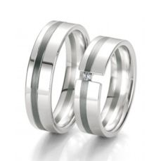 WEDDING RINGS BLACK & WHITE 48/06131- 48/06132