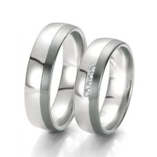 WEDDING RINGS BLACK & WHITE 48/06133- 48/06134