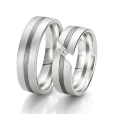 WEDDING RINGS BLACK & WHITE 48/06135- 48/06136