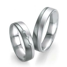 WEDDING RINGS BLACK & WHITE 48/07155-48/07156
