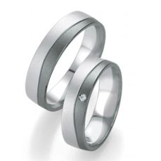 WEDDING RINGS BLACK & WHITE 48/07161-48/07162