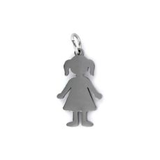 STEEL PENDANT GIRL 9100541