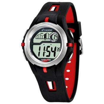 kid's watch calypso rubber black red esportive