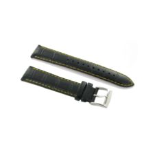 SEIKO SNDD25 WATCH BAND LEATHER BLACK LO1KH20