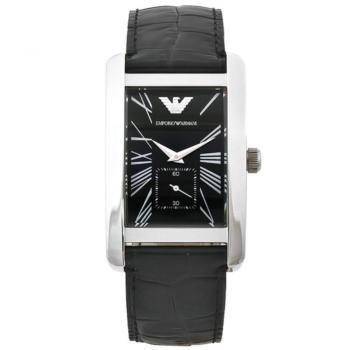 rellotge emporio armani pell negra