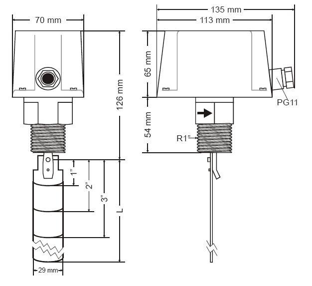 flow switch s6065a1003 honeywell