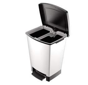 Contenedor reciclaje con pedal for Cubos de basura con pedal