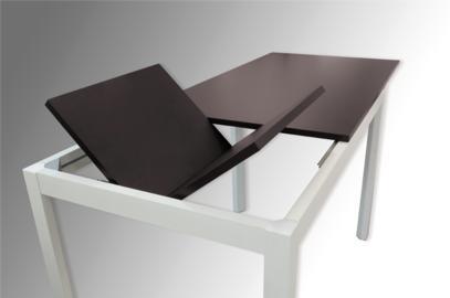 Mesa daphne extensible libro oculto 110 x 80 for Herrajes para muebles de oficina
