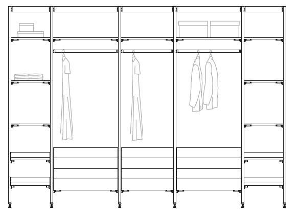 Vestidores De Aluminio Affordable Vestidor De Pared Moderno De