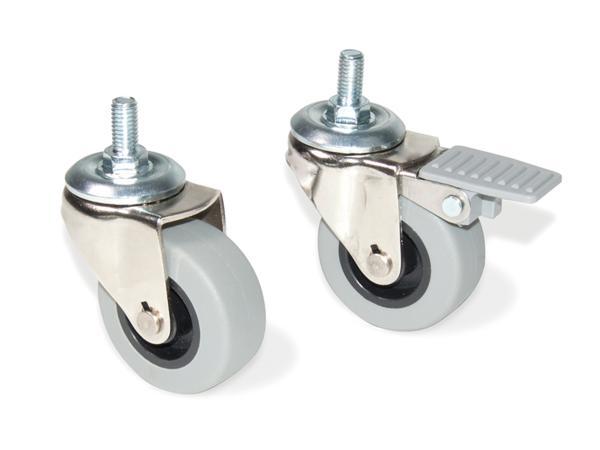 rueda slip gris - ruedas para muebles | ferreteria online - Ruedas Para Mesa