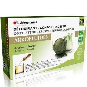 ARKOFLUIDOS DESINTOXICANTE-CONFORT DIGESTIVO 20 AMPOLLAS