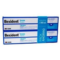 BEXIDENT TRICLOSANT DENTIFRICO 125ML X2 UNIDADES