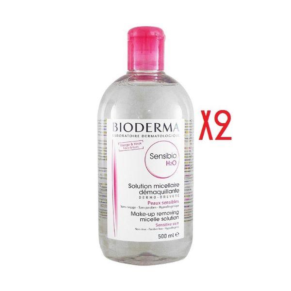BIODERMA SENSIBIO H2O MICELAR 500ML x2 UNIDADES