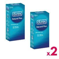 DUREX PRESERVATIVOS NATURAL 24U. x2