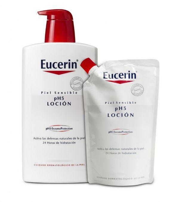 Eucerin loción intensiva 1000ml con ecpockar de 400ml de regalo