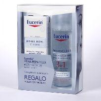 Eucerin Hyalluron Filler crema ácido hialurónico de dia con agua micelar cofret oferta