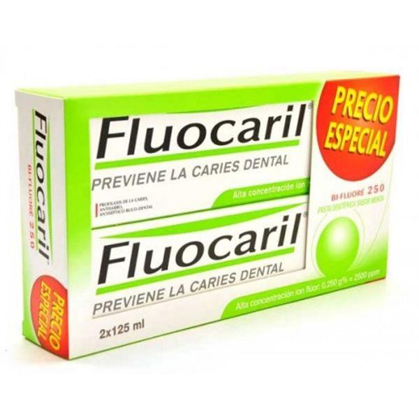 Fluocaril dentífrico menta 125ml oferta 2 unidades